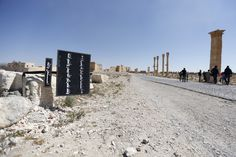 A billboard (L) with Koranic verses is seen in the historic city of Palmyra, in Homs Governorate, Syria April 1, 2016. REUTERS/Omar Sanadiki  SEARCH 'PALMYRA SANADIKI' FOR THIS STORY. SEARCH 'THE WIDER IMAGE' FOR ALL STORIES via @AOL_Lifestyle Read more: https://www.aol.com/article/news/2017/04/22/new-report-finds-isis-caliphate-is-on-a-path-to-collapse/22051067/?a_dgi=aolshare_pinterest#fullscreen