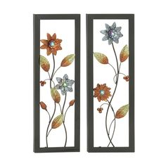 Classic Metal LED Wall Plaque  (Set of 2)