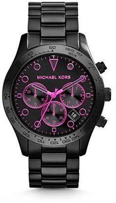 Michael Kors Layton Chronograph Black Dial Steel Mens Watch MK6082 #GoldJewelleryMichaelKors