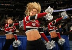 Members of the Washington State University dance team perform during a basketball game (Doug Pensinger/Getty Images)