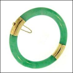 Expensive Jade Jewelry | 7K: NATURAL GREEN JADE BANGLE