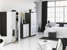 black and white bedroom 23 Black and White Bedroom Furniture, 26 Cool Ideas