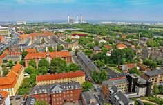 AM Dolce Vita, Nordic Countries, Denmark, Copenhagen, Copenhagen Aerial Panoramic view from the tower of the Church of Our Savior