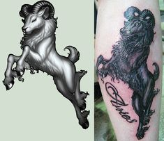 girly aries ram tattoo - Google Search