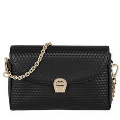Aigner Aigner Tasche – Genoveva Leather Pochette Black – in schwarz – Abendtasche für Damen