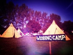 Camping tipis - the World Inspired alternative to traditional wedding accommodation Outdoor Tent Wedding, Tipi Wedding, Camp Wedding, Plan My Wedding, Wedding Themes, Garden Wedding, Wedding Styles, Our Wedding, Wedding Venues