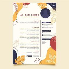 Creative Cv Template, Resume Design Template, Creative Resume Design, Graphic Resume, Graphic Design Resume, Resume Cv, Free Resume, Conception Cv, Cv Original