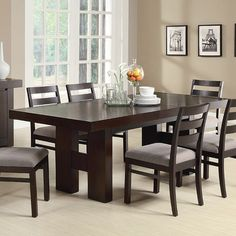Steve Silver Company Hamlyn Marble Top Dining Table In Pewter Awesome Hamlyn Dining Room Set Design Inspiration