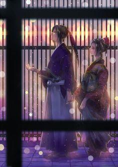 Hijikata and Chizuru- Hakuouki...owww this is nice