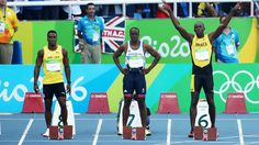 08.13.16 Former Cal running back Jahvid Best, running for St. Lucia, faces off against Jamaica's Usain Bolt in 100m heats. #Rio2016