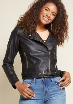 Gear Me Out Moto Jacket in M - Long by ModCloth