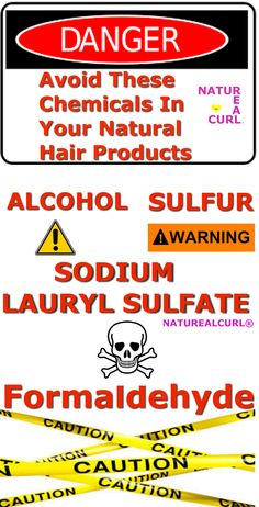 Natural Hair Tips #Naturealcurl Avoid These Chemicals In Your Hair Products
