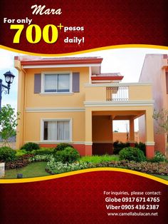 For only 700+ a day! You can already avail one of our best selling unit MARA. Talk to our trusted Digital Marketing Team now!  Located in the booming city of Malolos, Bulacan.  For more inquiries and FREE site tripping, you may reach us through: Primary Number: 0917-671-4765 (Globe) 0926-525-8029 (Smart) 0939-884-4403 (Viber) (+63) 905-436-2387 Email: camellaprovenceofficial@gmail.com Visit us: www.camellabulacan.net/maloloswww.facebook.com/CamellaProvenceOfficial