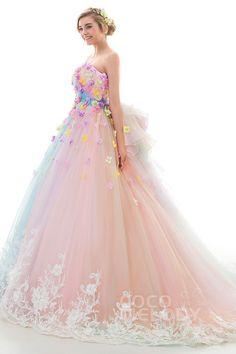 【LD4156(フラワーレインボーカラードレス)の詳細】カラードレスやウエディングドレスのオーダーなら専門店のCocoMelody(ココメロディ)にお任せください。高品質・低価格の豊富なラインナップでドレス探しのお手伝い。サロンでは試着も可能です。ぜひピッタリな一着を見つけてください。 15 Dresses, Elegant Dresses, Pretty Dresses, Formal Dresses, Beautiful Gowns, Beautiful Outfits, Bridal Gowns, Wedding Gowns, Fantasy Dress