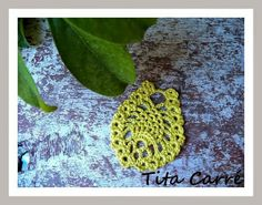 Folha em ponto Abacaxi em crochet