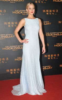 Jennifer Lawrence from The Hunger Games: Mockingjay Part 2 Premieres  In Christian Dior Couture.