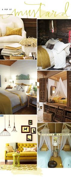 inspired by lovely | a collection of home, craft and design inspiration | Juliet Jones: mustard loving.