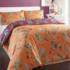 Orange 'Luella Birds' bed linen - Duvet covers & pillow cases - Bedding - Home & furniture - Linen Bedding, Bed Linen, Love Home, Home Textile, Guest Room, Home Furniture, Pillow Covers, House Design, Blanket