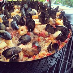 Seafood paella. Made for long summer afternoons. Photo courtesy of jkruddy on Instagram.
