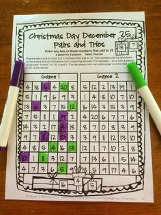 FREEBIE - Christmas Math Games No Prep Freebies by Games 4 Learning contains 2 printable Christmas Math Game Sheets.