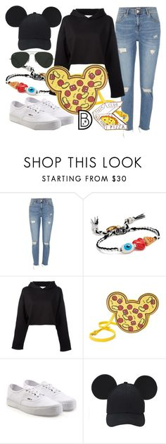 """""""Pizza Lovers, Unite!"""" by leslieakay ❤ liked on Polyvore featuring River Island, Venessa Arizaga, Golden Goose, Vans and Ray-Ban"""
