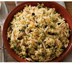 Brown Rice Pilaf With Saffron And Ginger http://www.epicurious.com/recipes/food/views/Brown-Rice-Pilaf-with-Saffron-and-Ginger-51151200