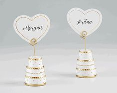 Pink Wedding Cakes view larger picture - Kate Aspen's Gold Wedding Cake Place Card Holders are made from durable resin, designed to look like a three-tiered wedding cake. The included matching place cards can be displayed by a spiral wire atop each cake. Floral Wedding Cakes, Gold Wedding Theme, White Wedding Cakes, Wedding Cake Designs, Table Wedding, Party Wedding, Wedding Events, Budget Wedding Favours, Wedding Reception Planning