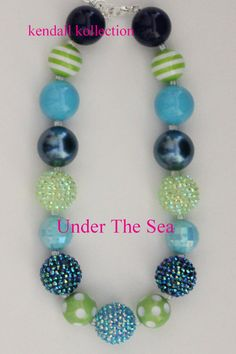 Under the Sea necklace for women, girls, kids