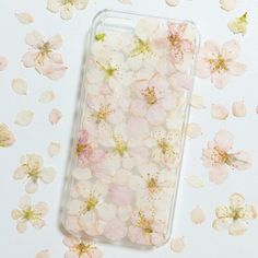 寒桜の押し花iPhone5/5sケース - ボタニカル コンセプト