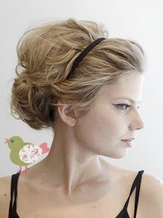 Wedding hair with headband.