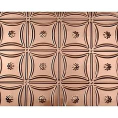"6"" Shanker Copper Backsplash in Floral Ring pattern at Van Dyke's Restorers"