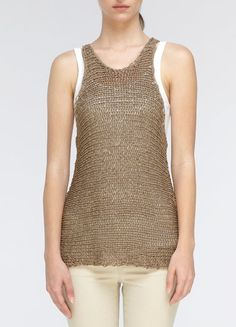 Knit Tank by Vince, viscose and cotton