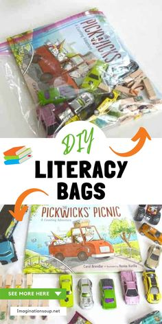 Reading Games, Reading Centers, Reading Lessons, Writing Lessons, Reading Activities, Hands On Activities, Reading Skills, Preschool Activities, Literacy Bags