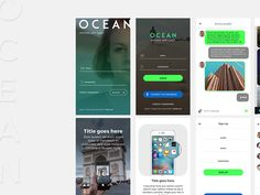 Ocean Mobile UI KIt