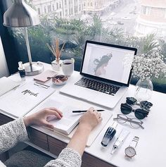 54 Awesome Workspaces & Offices - The Workspace - Home Office Workspace Inspiration, Decoration Inspiration, Study Inspiration, Desk Inspo, Small Workspace, Office Workspace, Study Space, Desk Space, Study Desk