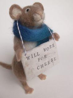Gorgeous needlefelt mouse by Mrs. Plop's Shoppe