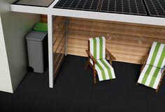 Solar veranda met zonnepanelen
