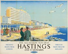 Daphne Padden vintage railway poster Hastings and St Leonards