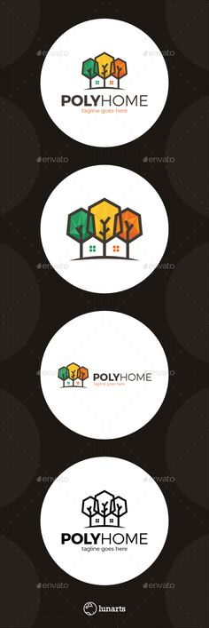 Poly Tree Home - Logo Design Template Vector #logotype Download it here: http://graphicriver.net/item/poly-tree-home-logo/14021689?s_rank=277?ref=nesto