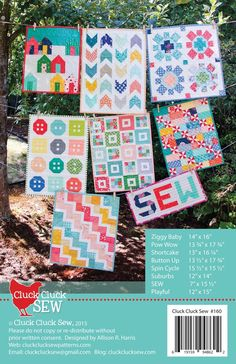 Mini Quilts Patterns by Cluck Cluck Sew Mehr