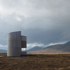 This cylindrical larch-clad observation tower was designed by Icosis Architects to provide an elevated vantage point over picturesque bogland and night skies in Scotland. Read the full story and see further images on http://ift.tt/1RayTxi #architecture #scotland by dezeen