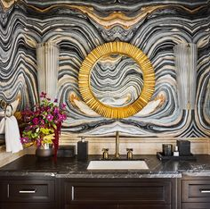 Dissecting the Details: Ken Fulk Ken Fulk, Cream Room, Wall Patterns, Bath Design, Home Renovation, Happy Friday, Interior Inspiration, Style Inspiration, Animal Print Rug