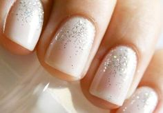 """essie waltz & sparkle essie waltz & sparkle essie waltz & sparkle Great wedding nails, """" how to do your nails for a wedding"""" manicure for bride, Wedding Manicure, Wedding Nails Design, Nail Wedding, Wedding Designs, Wedding Shoes, Winter Wedding Nails, Wedding Jewelry, Weding Nails, Jamberry Wedding"""