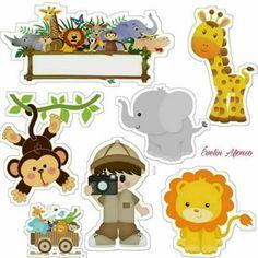 Twelve Pages of Zoo Animal Writing Paper Festa Safari Baby, Safari Theme Party, Safari Birthday Party, Jungle Theme, Baby Party, Baby Birthday, Party Themes, Boy Birthday Pictures, Animal Cutouts