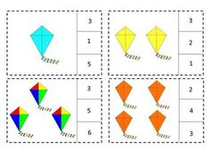 Distance Learning Kites Task Cards Math Count to 20 Count Clip PreK,K,Special Ed Activity Centers, Math Centers, Preschool Summer Camp, Counting To 20, Special Education Math, Math Task Cards, Learning Shapes, Autism Classroom, Spring