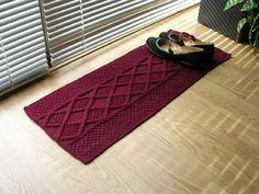 http://reliquaryarts.blogspot.com/2008/09/new-knitting-pattern-one-skein-shoe-rug.html