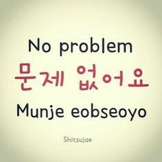 No problem: Moonje… Korean Slang, Korean Phrases, Korean Quotes, Korean Words Learning, Korean Language Learning, Learn A New Language, Learn Basic Korean, How To Speak Korean, Korean English
