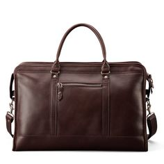 Luxury Leather Weekender Bag | Soft Brown Leather | J.W. Hulme Co.