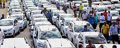 Protesto de taxistas contra o Uber em Recife