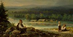 Robert Wilhelm Ekman (1808-1873) Neljä talonpoikaislasta maisemassa / Landscape with Four Peasant Children. Close-up. 1865 - Finland ...  kokoelmat.fng.fi